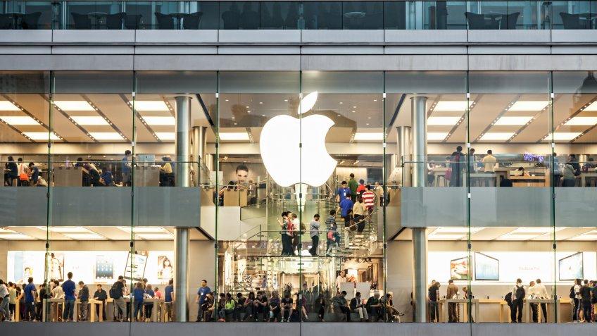 HONG KONG, CHINA - MARCH 19: Apple Store in the city center on March, 19, 2013, Hong Kong, China.