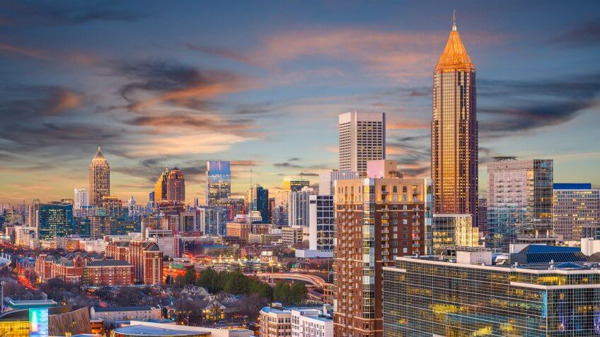 downtown Atlanta Georgia skyline