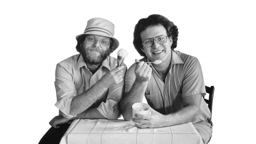 Ben Cohen and Jerry Greenfield of Ben & Jerry's Ice Cream