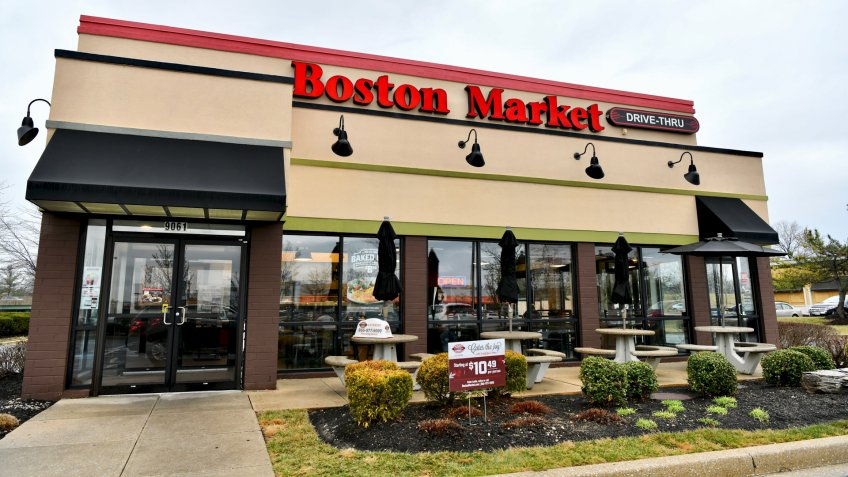 COLUMBIA, MD, USA - MARCH 15, 2018: Boston Market restaurant exterior.