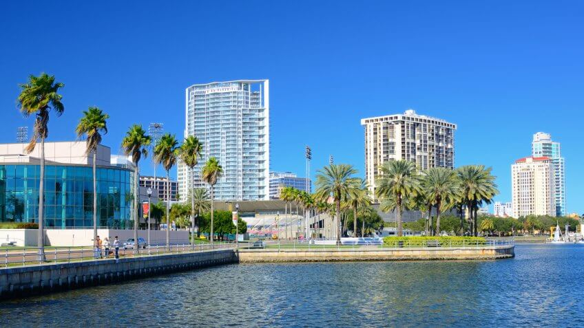 Buildings along the skyline of St. Petersburg, Florida