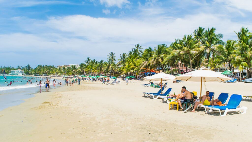Cabarete Beach in the Puerto Plata province of Dominican Republic