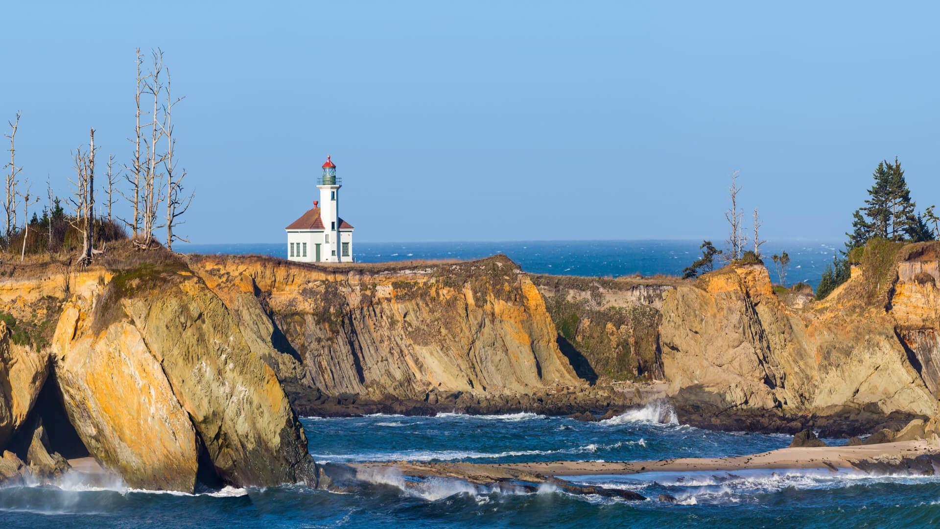 Cape Arago Lighthouse in Coos Bay Oregon