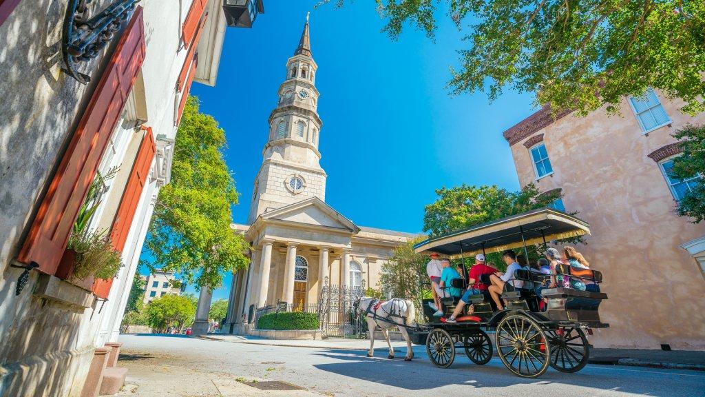 Historical downtown area of Charleston, South Carolina, USA - Image.