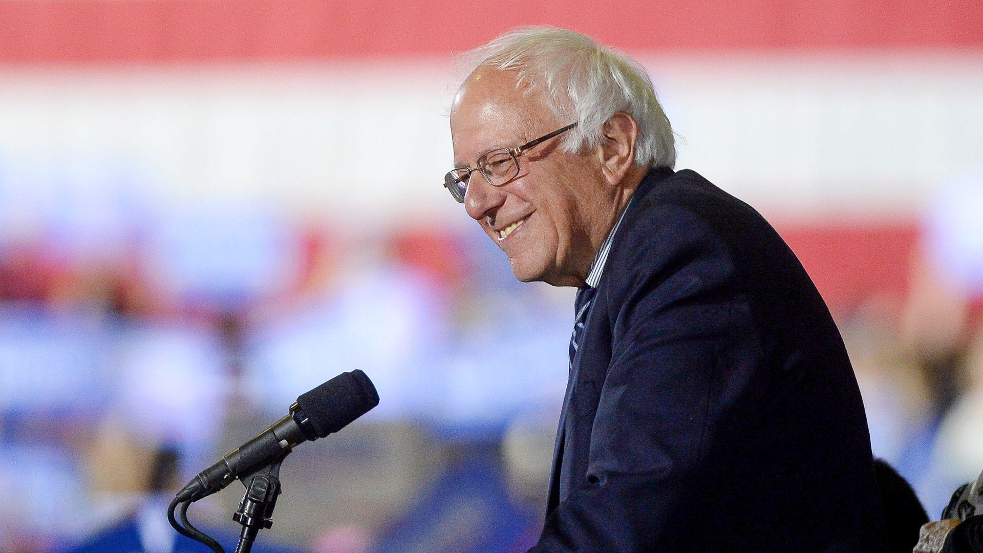 Democrat Presidential candidate Bernie Sanders