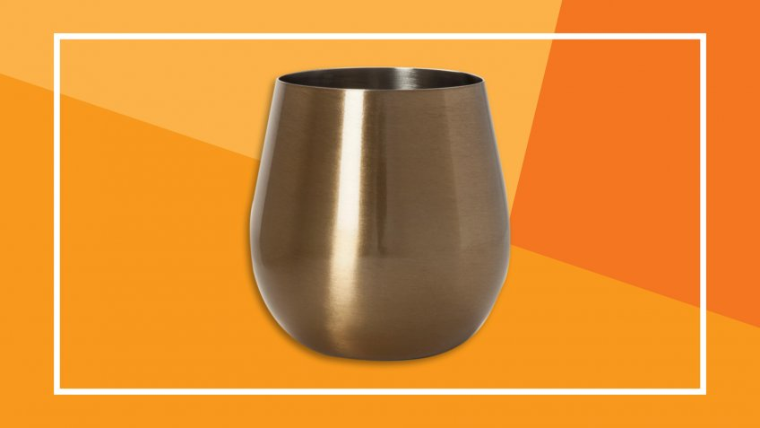 Gold Stainless Steel Wine Glass Target