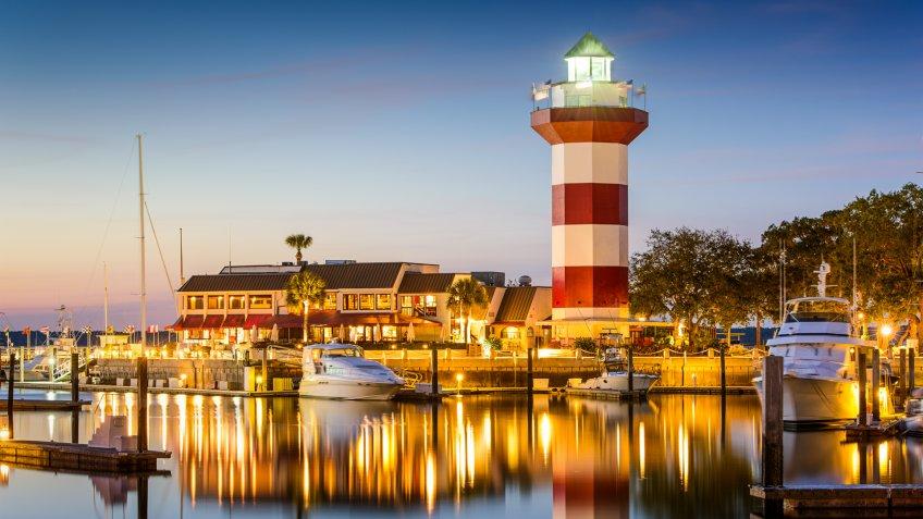 Hilton Head, South Carolina, USA lighthouse