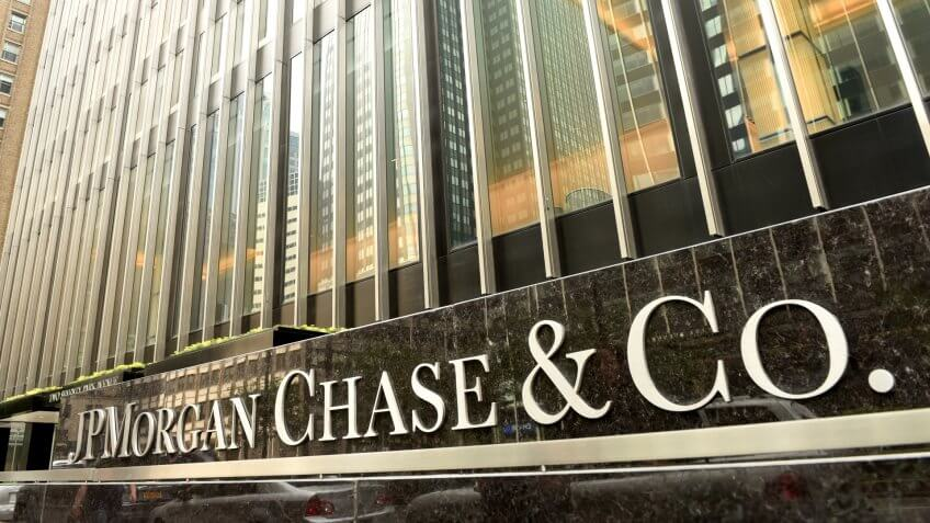 JP Morgan Chase bank building in New York