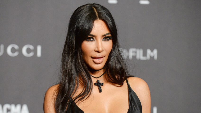 Kim Kardashian West poses at LACMA gala