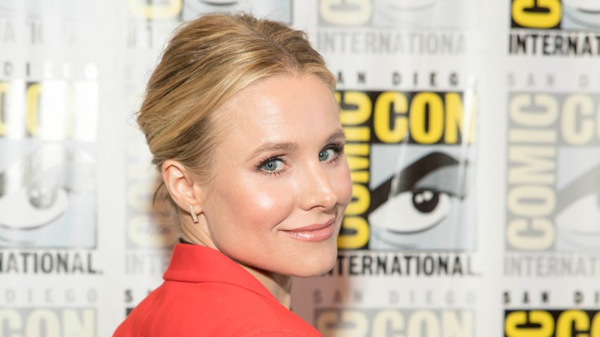"Kristen Bell attends Comic-Con International San Diego 2018 NBC's ""The Good Place"" Press Room, San Diego, California on July 21, 2018."