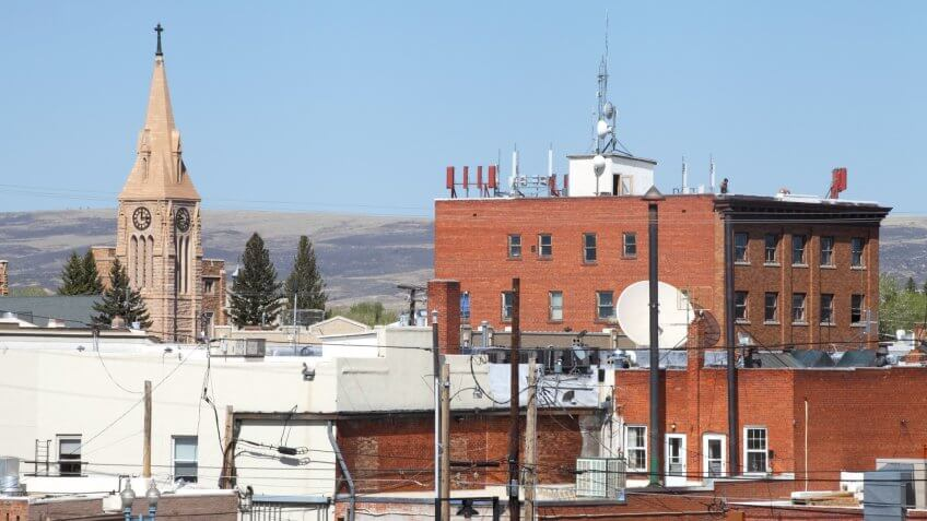 Downtown Laramie, Wyoming.