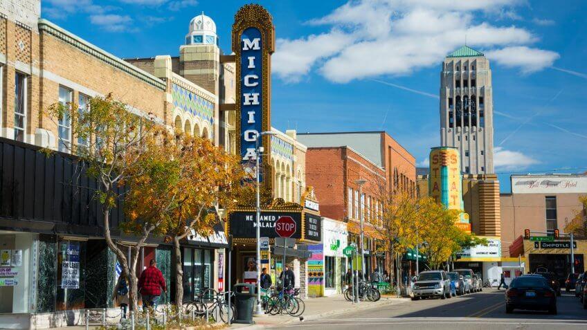 LIberty Street in Ann Arbor Michigan
