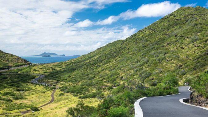 Makapu'u Point Lighthouse Trail on Kaiwi State Scenic Shoreline, Oahu, Hawaii