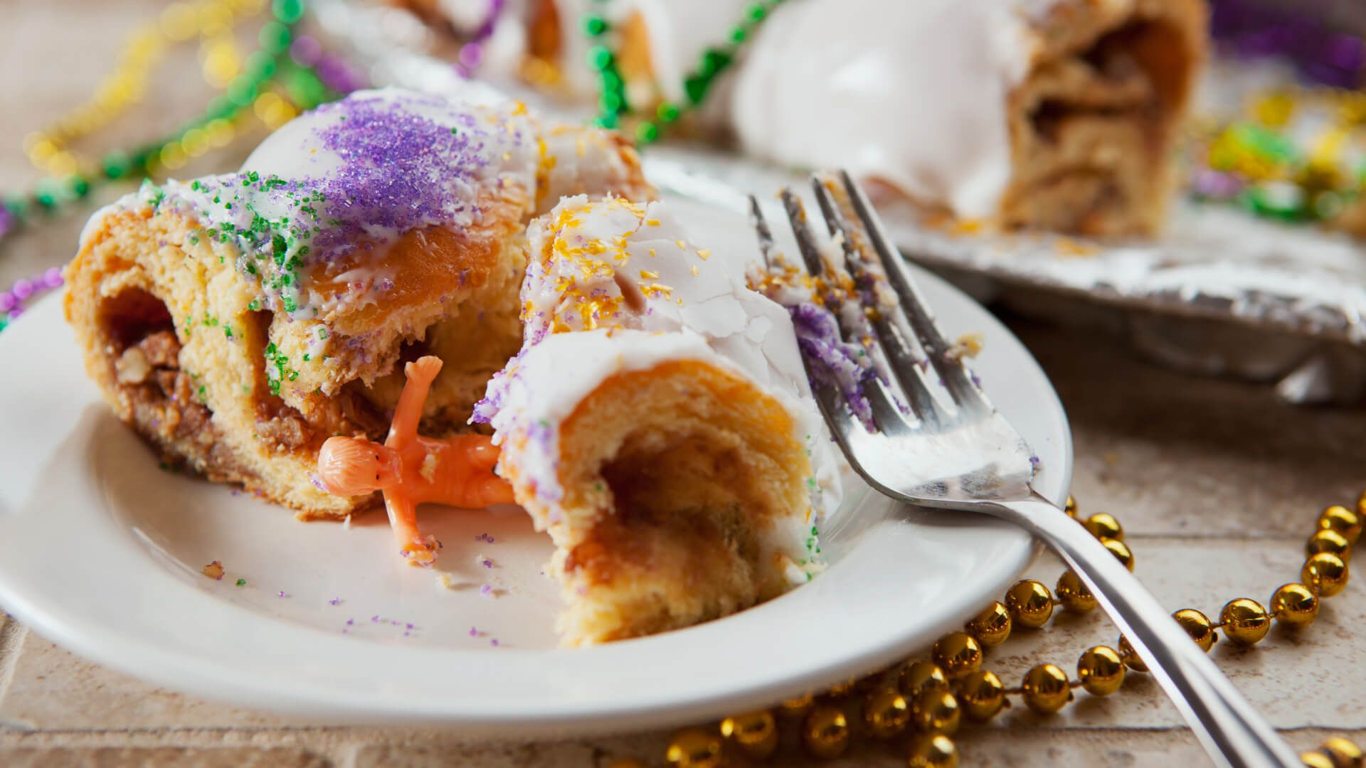 Mardi Gras Baby Jesus Toy From Inside Piece Of King Cake