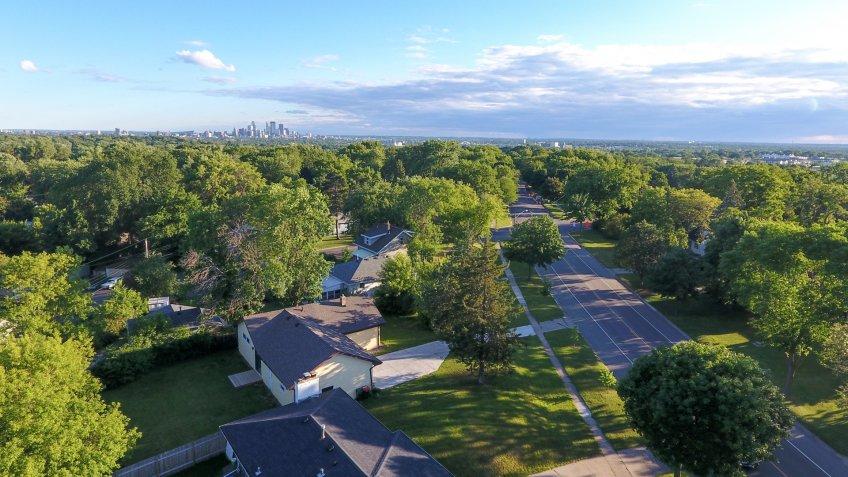 Minneapolis Minnesota aerial