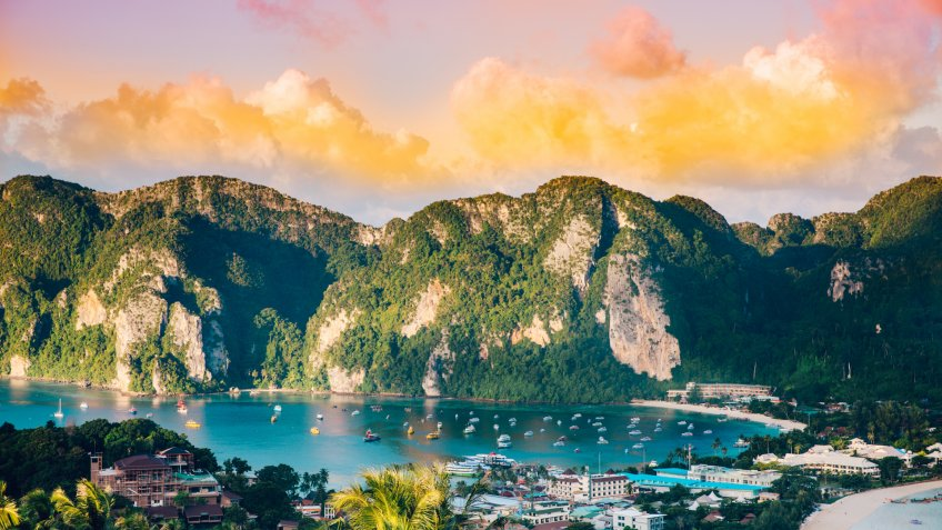 Phi Phi Islands in the Krabi province of Thailand