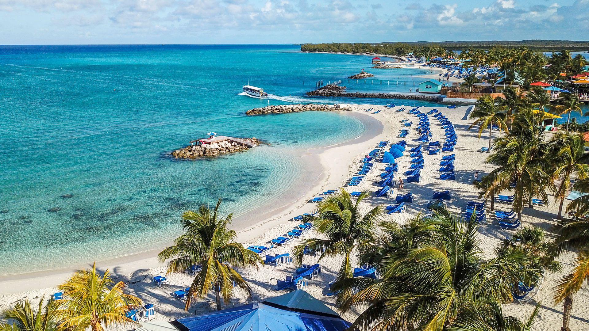Princess Cays beach in Bahamas