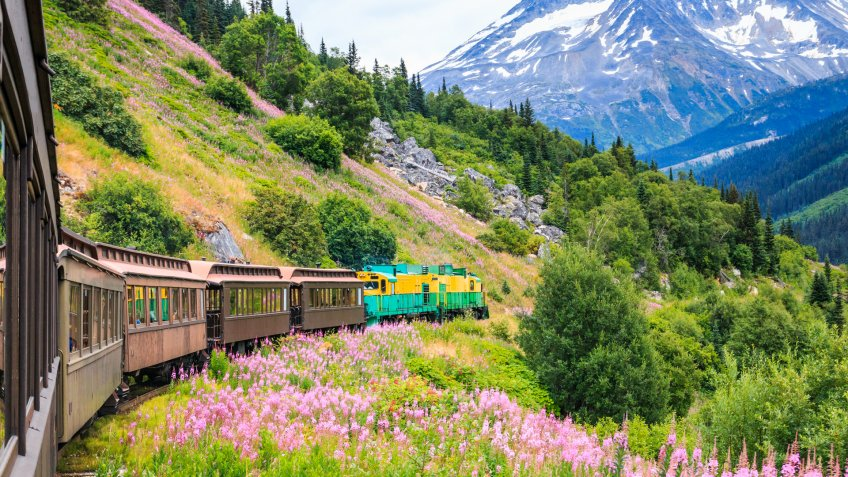 Scenic White Pass Yukon Route Railroad