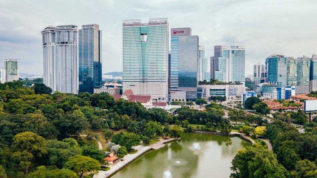 St. Regis Hotel among the Kuala Lumpur skyline