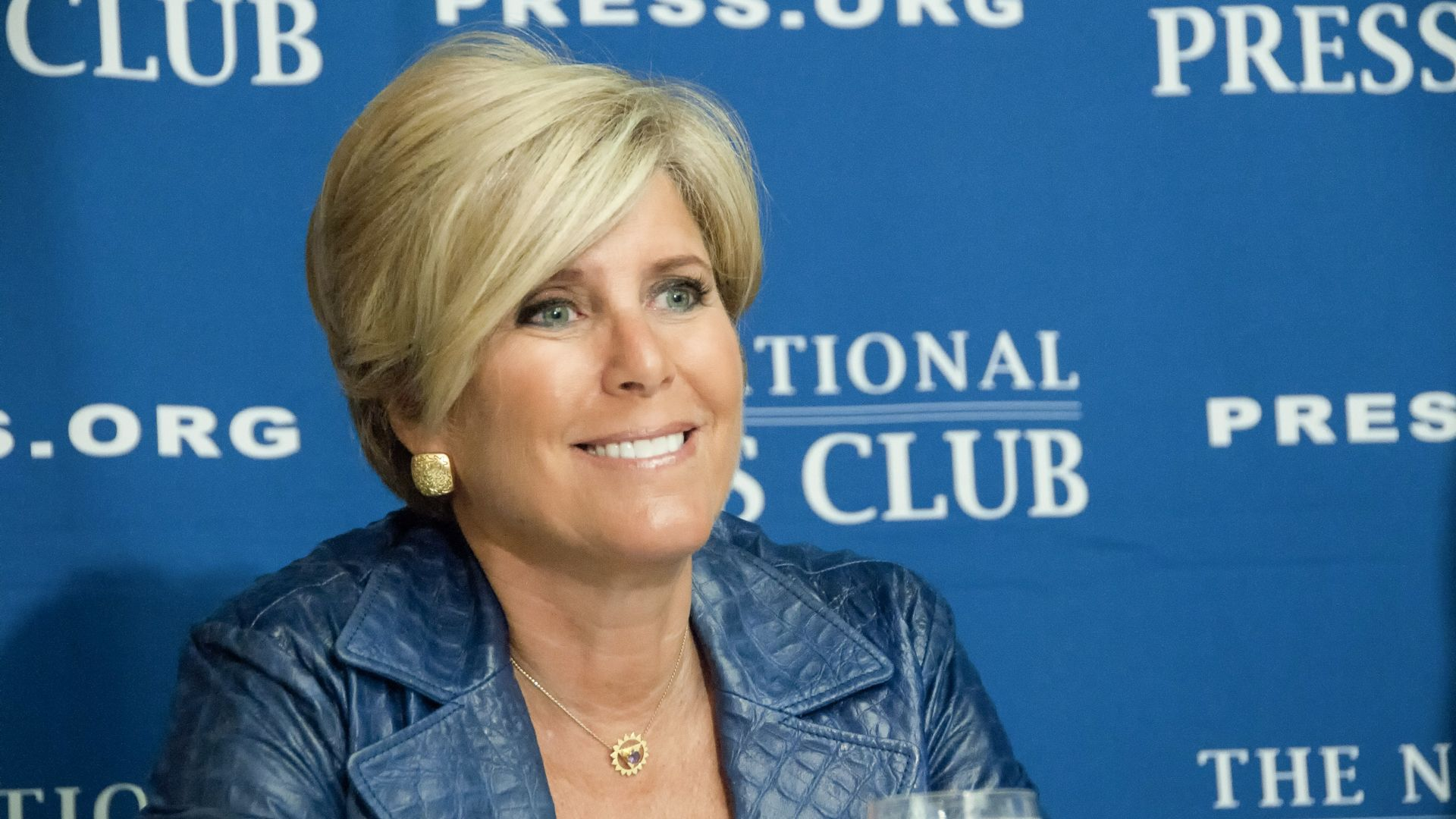 WASHINGTON, DC - JANUARY 12: Financial adviser, author, and TV personality Suze Orman speaks at a press conference at the National Press Club, January 12, 2012, in Washington, DC.