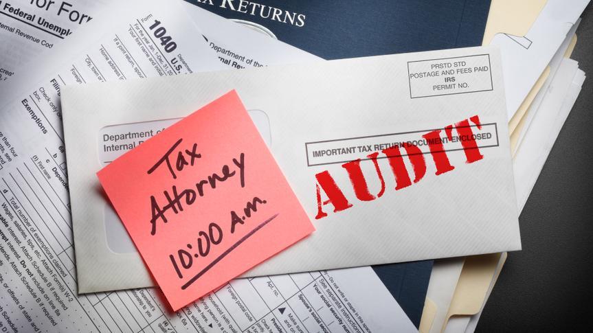 Tax Audit Notice envelope