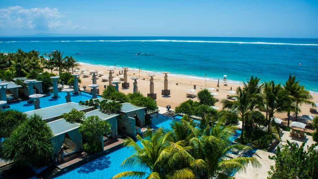 Mulia Hotel in Bali Indonesia by the Indian Ocean