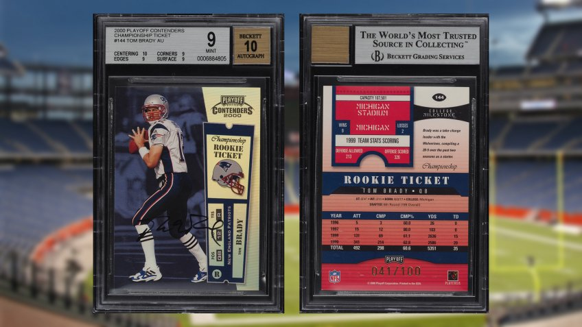 Tom Brady rookie cards