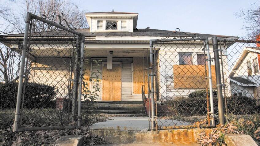 A home near Uptown Charlotte Awaiting renovations.