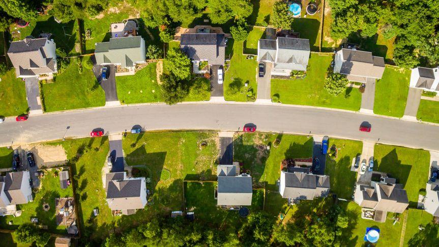 aerial photo of Denver Colorado neighborhood