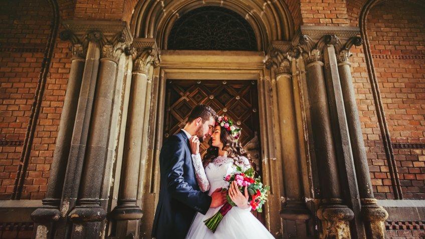 college architecture wedding