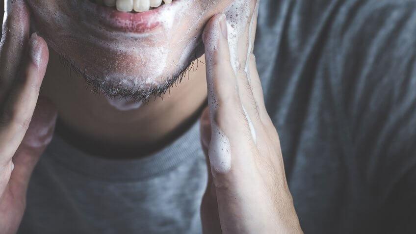 Men cleansing shave
