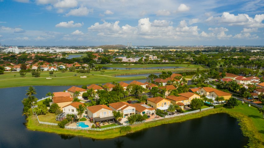 residential homes in the City of Pembroke Pines Florida USA