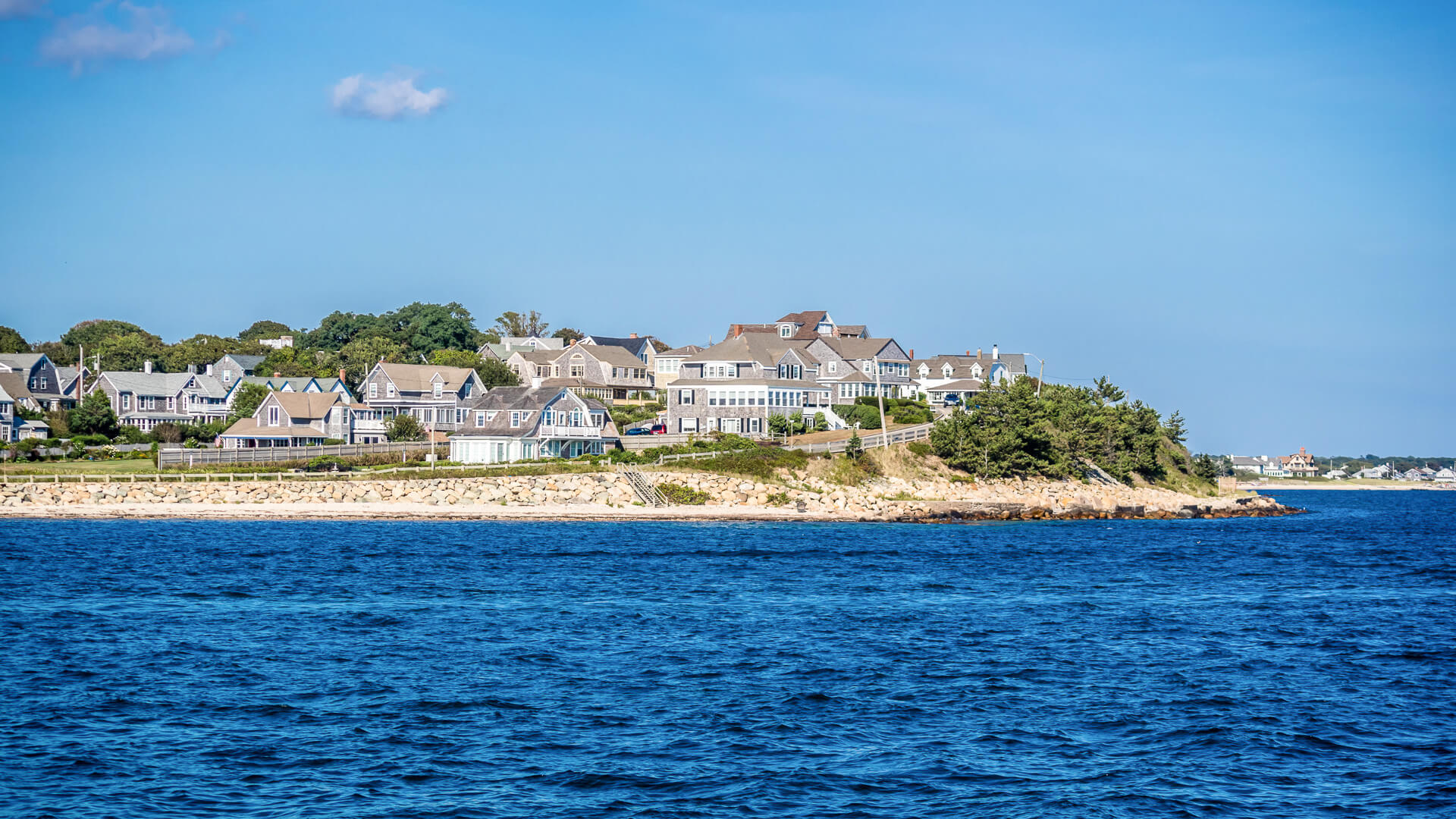 Epic shot of The Vineyard Island from our boat in Martha's Vineyard.