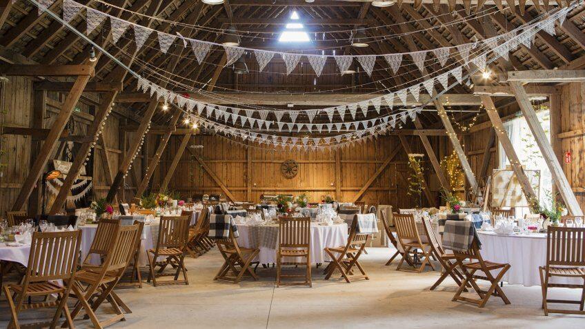 wedding venue at county fairgrounds barn