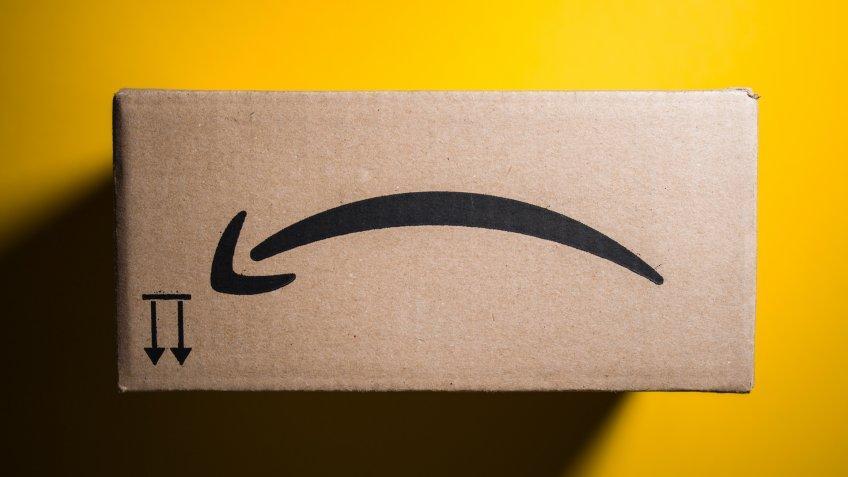 Amazon logo upside down