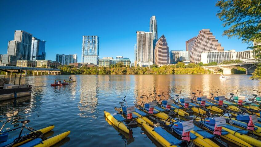 Downtown Skyline of Austin, Texas in USA - Image.