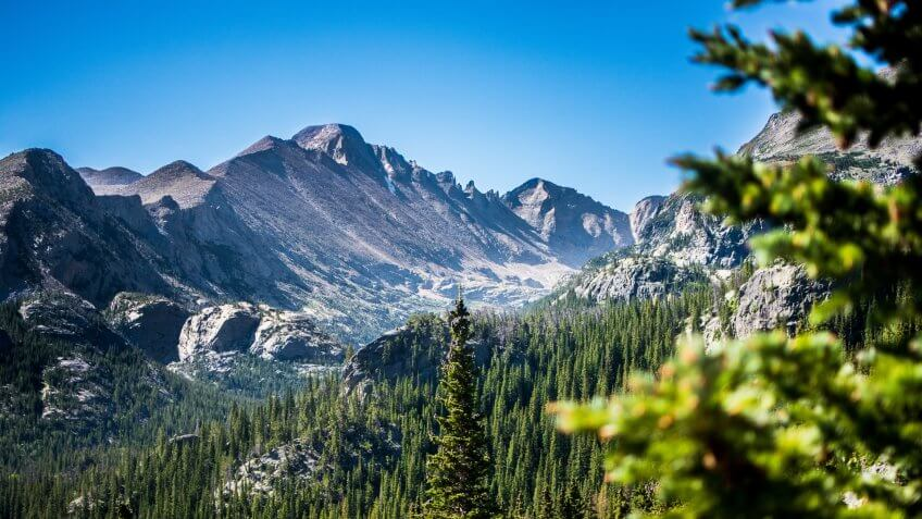 Bear Lake Trailhead in Estes Park in Colorado