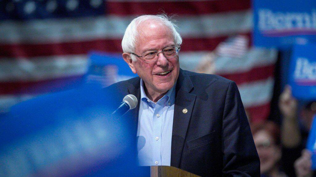 Bernie Sanders Democratic Presidential candidate speaks at Iowa rally