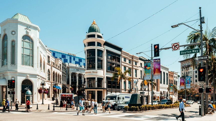 Beverly Hills Rodeo drive shopping