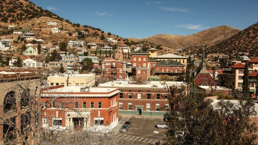 Bisbee Arizona in Sierra Vista-Douglas metropolitan area
