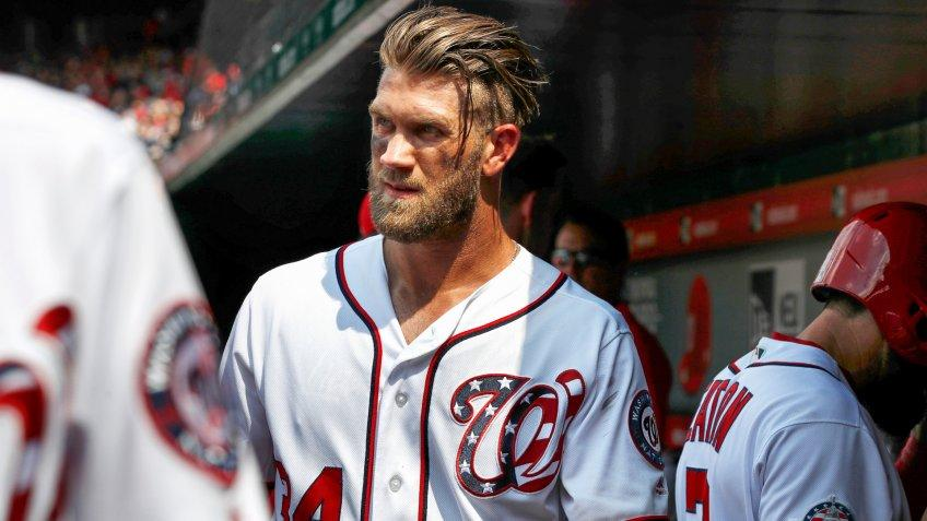 Bryce Harper former Washington Nationals baseball player