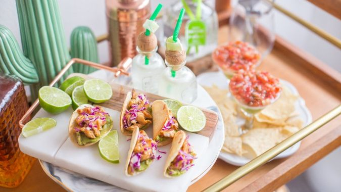Cinco de mayo cocktails and appetizers