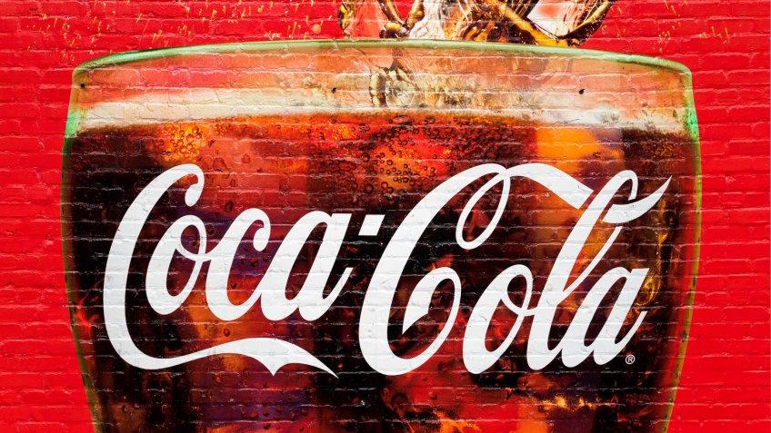 Coca-Cola mural in Atlanta Georgia