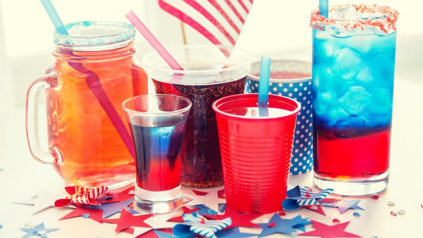 American Independence Day cocktails and drinks
