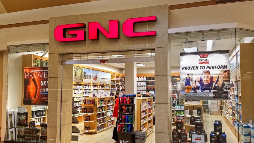 GNC store in shopping mall