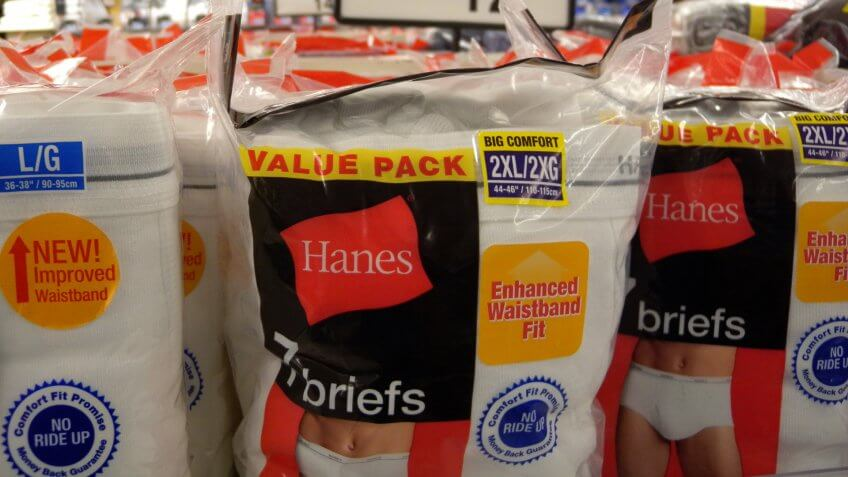 Hanesbrands on sale in store