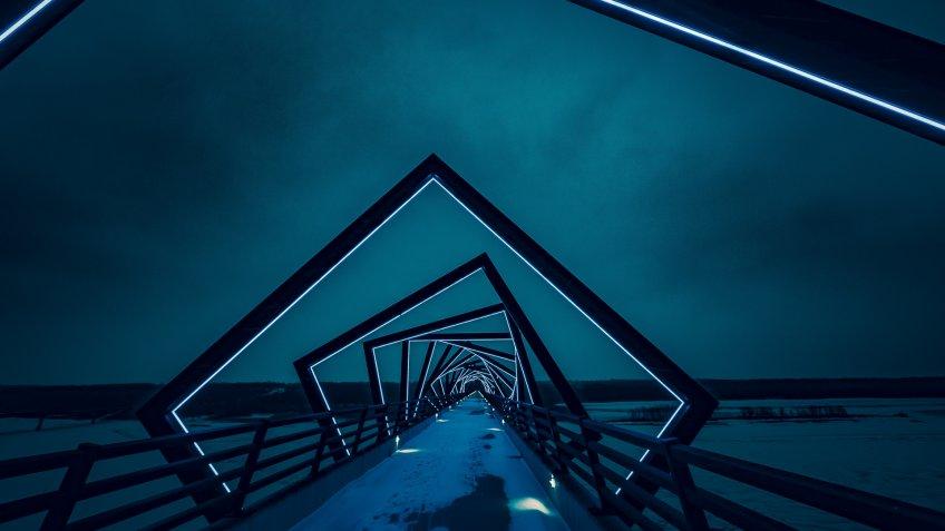 High Trestle Trail Bridge in Madrid Iowa