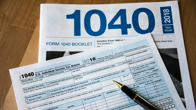 The new US Federal Income Tax Forms for the tax year of 2018 to be filed in 2019.
