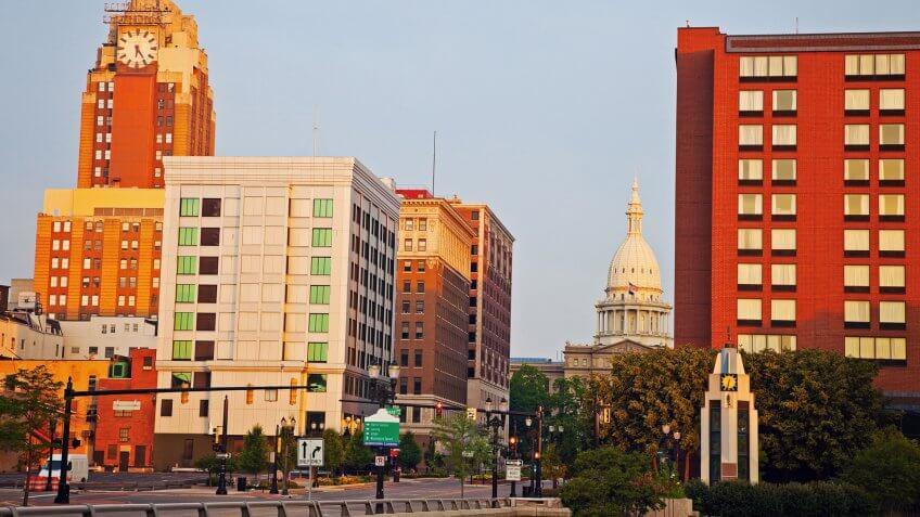 Lansing Michigan cityscape