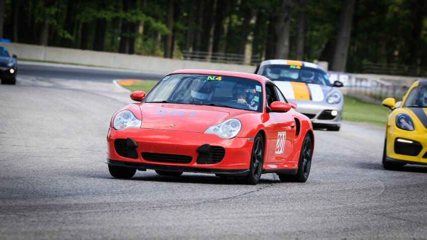 Larry Chester chief financial officer racing a Porsche